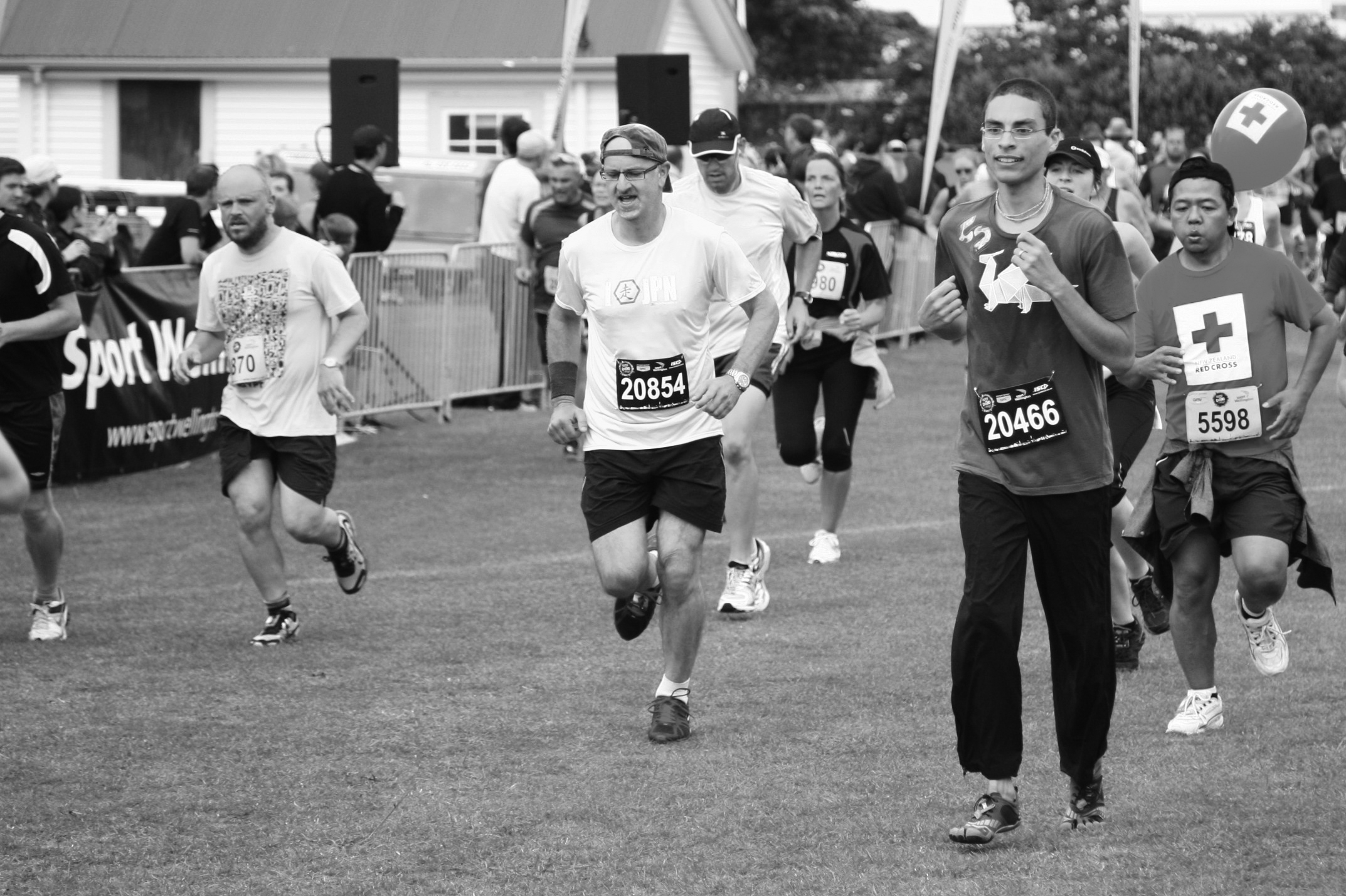 That's me in the front running the half-marathon